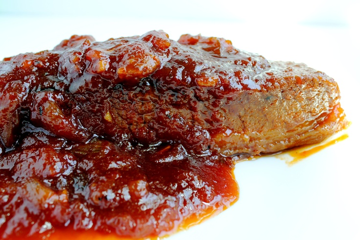Brisket- easy braised brisket recipe with a sweet and sour sauce. So good!