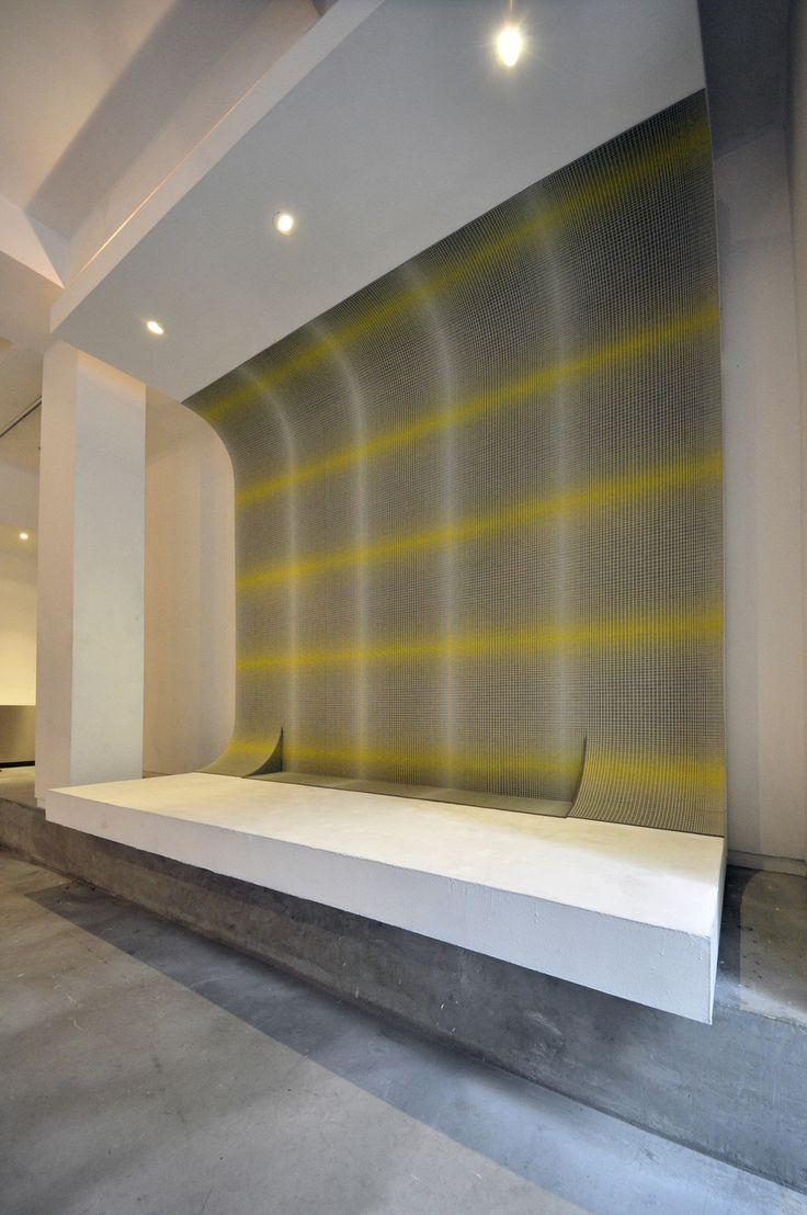 Kirei echopanel geometric tiles building for health - Echopanel Mura A Wallpaper Made Of 60 Pet Fibres Improves The Acoustics Of The