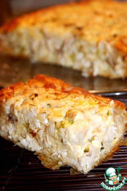 Пирог деревенский греческий с курино-сырной начинкой