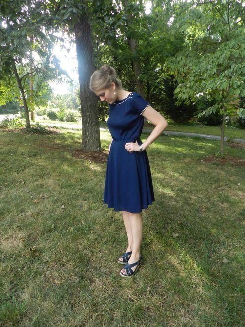 vintage navy dress