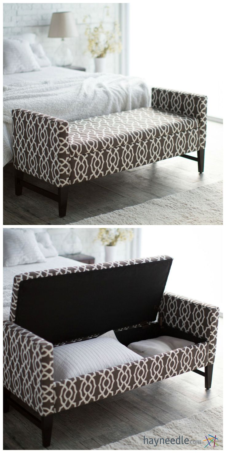 This ottoman isn't just a spot to sit while you're putting your outfit together…