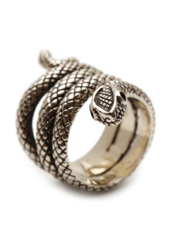 Anneau de serpent argent Sterling bijoux par carpediemjewellery