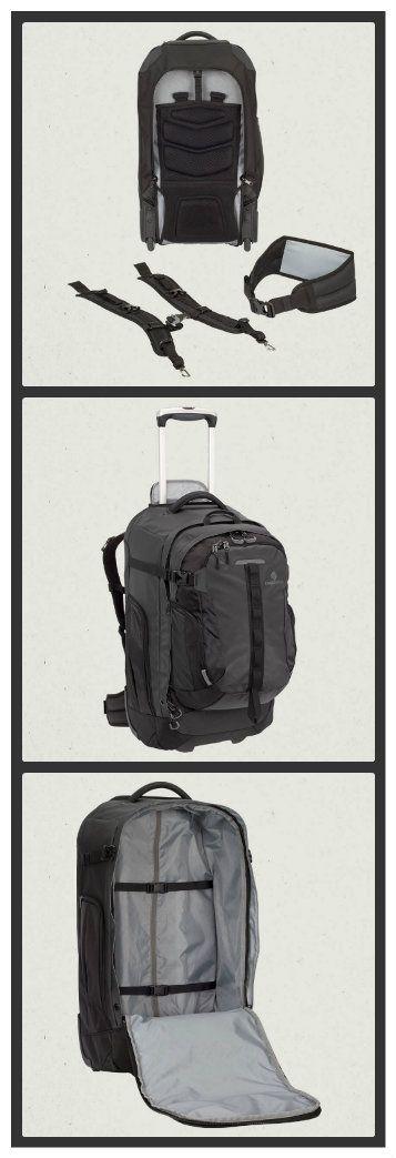 Valise Switchback de Eagle Creek : Une valise qui s'adapte à vos besoins, peut devenir un sac à dos avec sac de jour détachable... durable et garantie à vie, sans question!