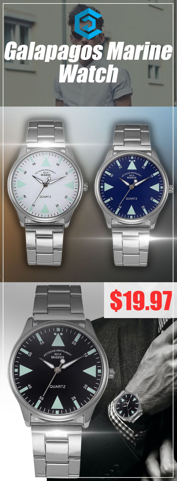 Galapagos Marine Watch |affordable| |luxury| |mens| |simple| |watches for men| |unique| |design| #watches #luxury #fashion #unique