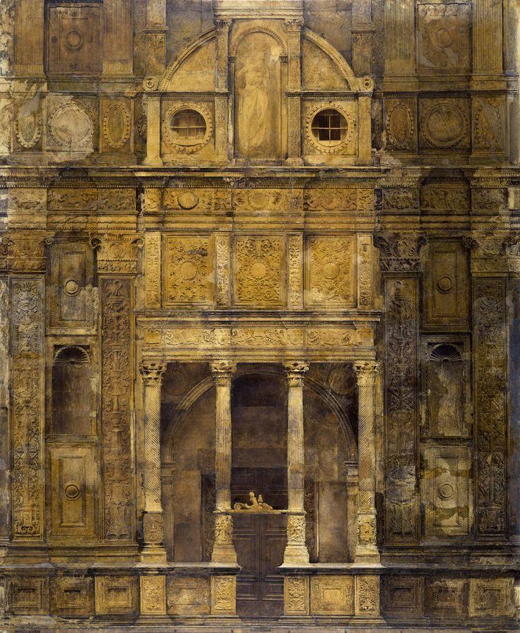 THROWBACK THURSDAY BRESCIA Chiesa di Santa Maria dei Miracoli, in corso Martiri della Libertà, recentemente riaperta. L'immagine è conservata presso il Museo di Santa Giulia e fu assemblata nel 1873 dal fotografo bresciano Giacomo Rossetti. Si tratta di una gigantografia, di ben 305x250 cm, realizzata incollando su una tela da pittore una serie di stampe fotografiche all'albume riprese da un'impalcatura fatta montare per l'occasione, completando le giunzioni col ritocco.
