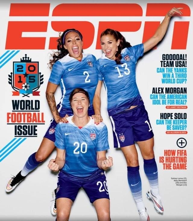 Get your fill of Syd & US Women's National Soccer Team in ESPN mag today…World Cup is almost here!!