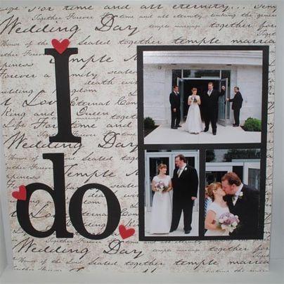 39+ Schöne Hochzeit Scrapbook Foto