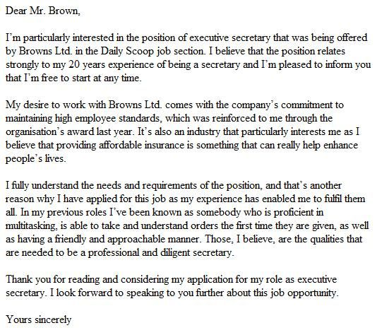 good example cover letter