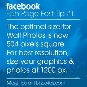 Be Square! Best Facebook Photo Sizes 2014: Fan Page Wall