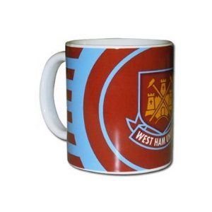 West Ham United Stripe Mug by Home Win. $15.88. Official Licensed Product. Ceramic Mug. West Ham United F.C.. In Gift Box. The West Ham United Stripe Mug is a stylish design in the club's home colours. It is supplied fully boxed and is an ideal gift for any proud fans. There is a large West Ham club crest on the front with a logo at either side. The mug is a sturdy ceramic design and is not recommended for use in the dishwasher. The West Ham United Stripe mug is an official p...