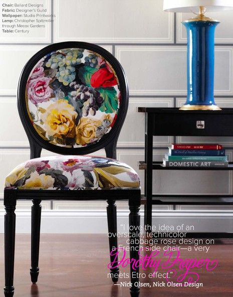 The Peak of Tres Chic: Floral Obsession: Designer's Guild Orangerie - I still love this fabric