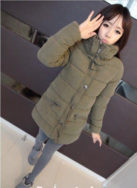 Куртка хлопок длинная, корейский зима толстый мягкий женщин загущающие воротник-мандарин тёплый пиджаки H1172