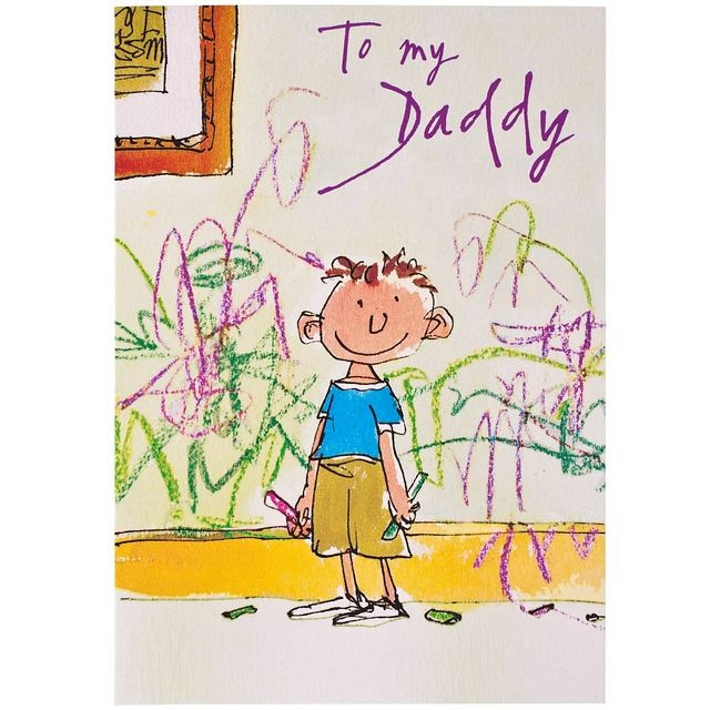Quentin Blake To My Daddy Father's Day Card