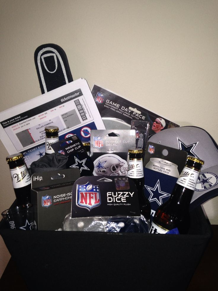 Dallas Cowboys gift basket with game day tickets (: