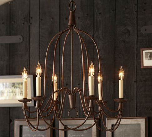 Armonk 6 arm chandelier pottery barn