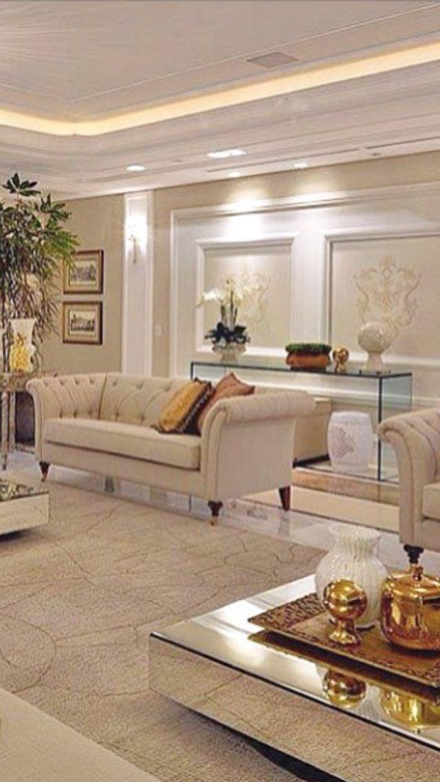 White Couch Living Room Decor: White Living Room