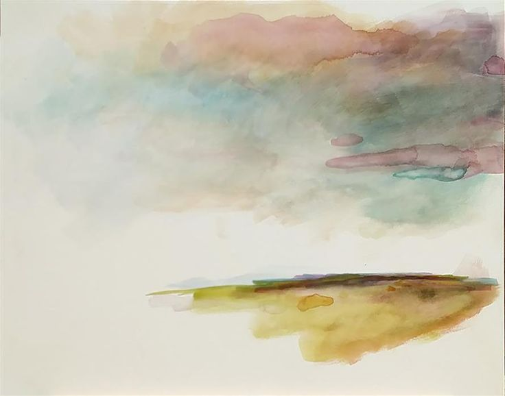 Original art for sale at UGallery.com | As I Lay Dreaming by NICOLE RYAN | $925 | Watercolor painting | 16' h x 20' w | ..\art\watercolor-painting-As-I-Lay-Dreaming