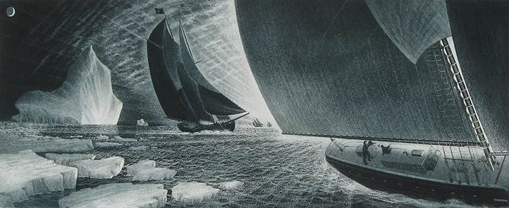 David Blackwood, Outward Bound for the Labrador, 1985 - I love his work and this etching/aquatint especially. S