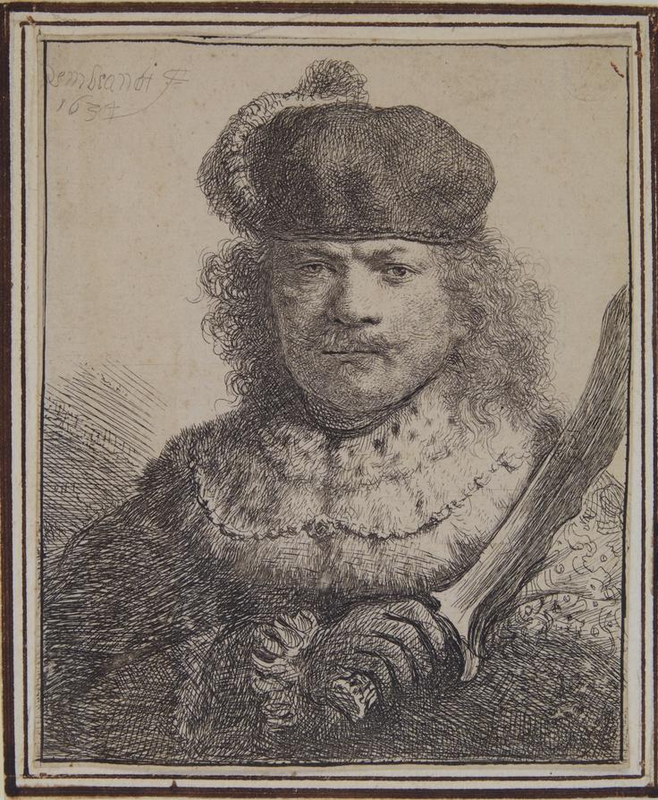 Rembrandt Harmenszoon van Rijn,  Autoritratto con la spada, 1634, Pavia, Musei Civici