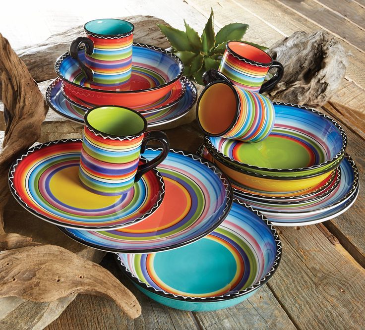 tequila sunrise dinnerware collection lonestarwesterndecorcom southwestern decoratingsouthwest decorsouthwestern - Southwestern Decor