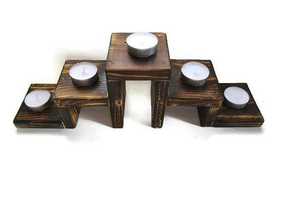 18 Rustic Candle Centerpiece Tealight Candle by lovemyrusticsigns