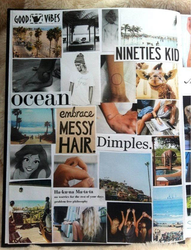 Great way to make a book cover for school! I would use Tumblr pictures :)
