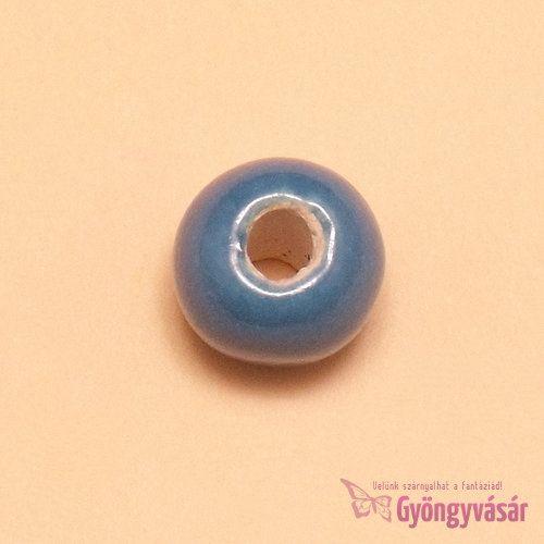 Fecskekék, 11 mm-es perui kerámia gyöngy • Gyöngyvásár.hu