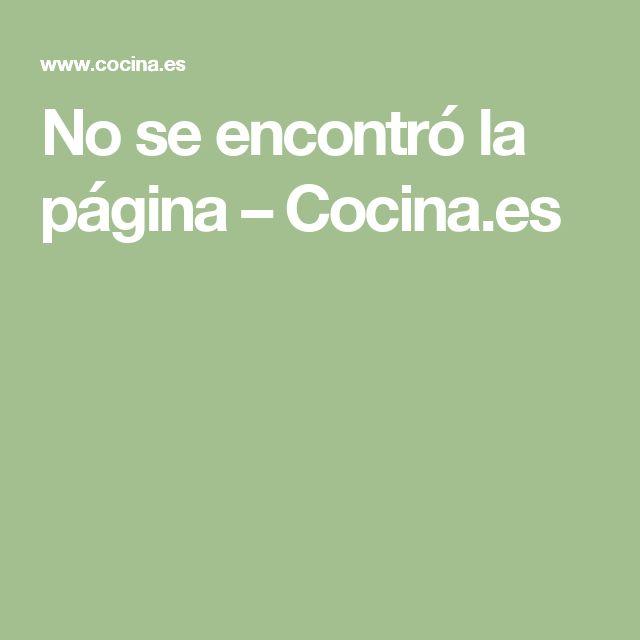 No se encontró la página – Cocina.es