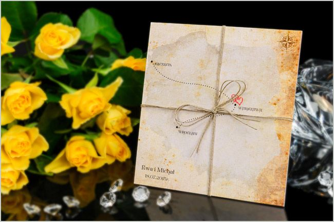 Zaproszenia ślubne - MAP