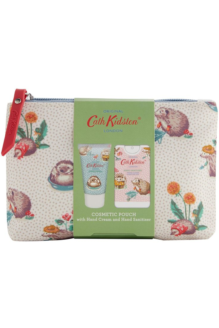 Womens Cath Kidston Gardeners Club Cosmetic Pouch With Hand Cream
