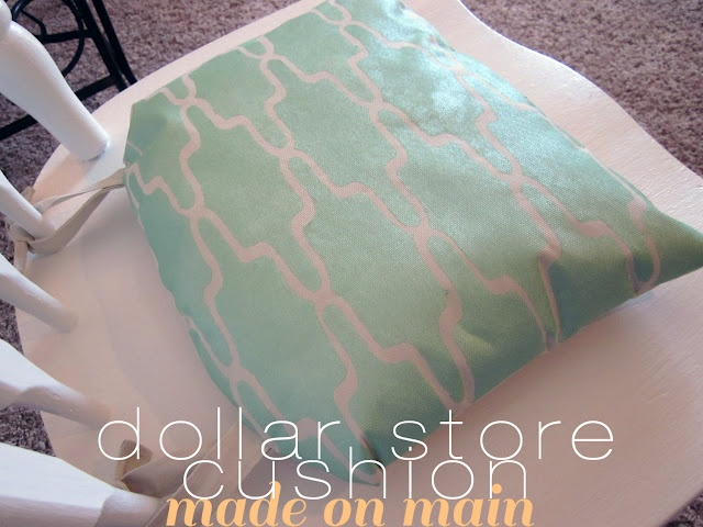 Dollar Store Chair Cushion Made On Main Pinterest