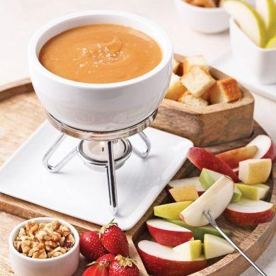 Fondue au caramel à la fleur de sel - Recettes - Cuisine et nutrition - Pratico Pratique