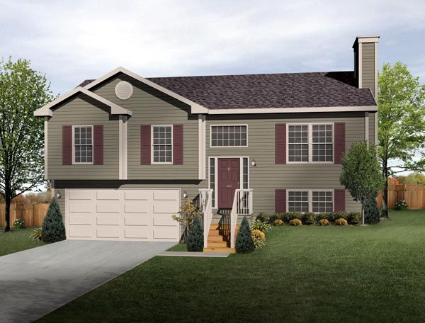 Split Level House Plan- exterior colors