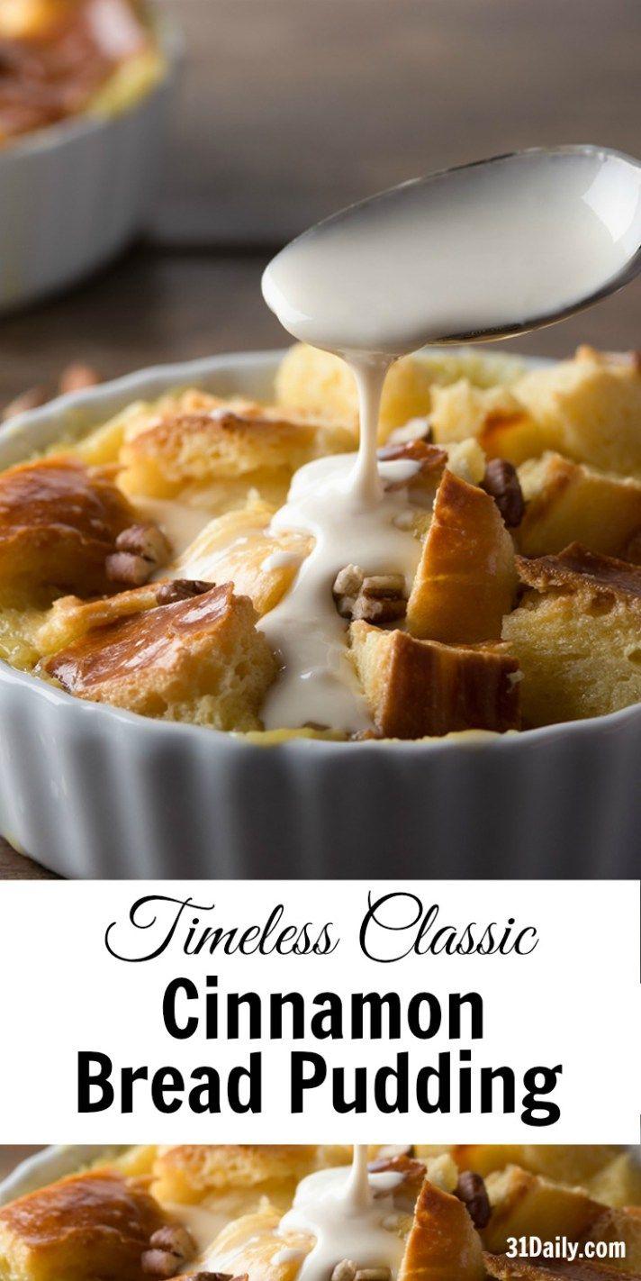 Timeless Classic: Cinnamon Brioche Bread Pudding | 31Daily.com