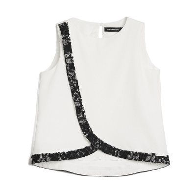 Rochelle Lace Detail Front Top-White $55.00 http://www.helloparry.com/collections/july-arrivals/products/rochelle-lace-detail-front-top-white