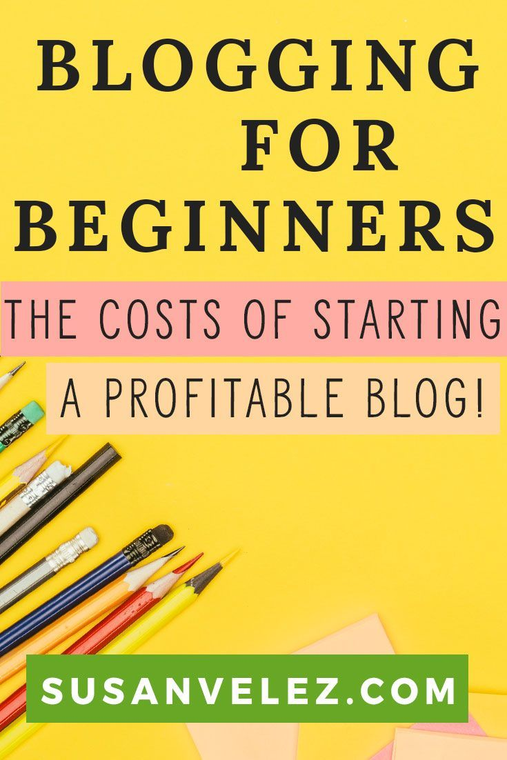 Blogging for beginners is hard. There's so much blogging information online, it can be confusing. Find out all the costs associated to blogging for beginners that will help you create a profitable blog. Yes it does cost money to start a blog, but it's not as much as you think. Find out what you need right now. #Blogging #StartABlog https://susanvelez.com/blogging-for-beginners/