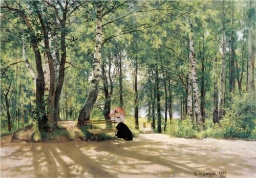 At the Summer Cottage - Ivan Shishkin