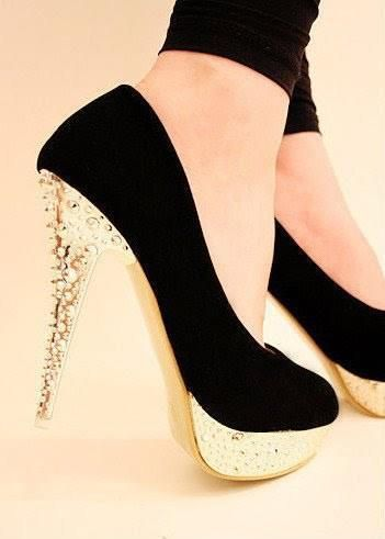 gold, pretty, shoes
