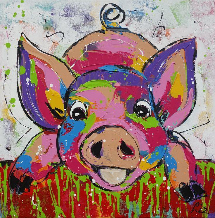 16 beste afbeeldingen van vrolijke schilderijen - Schilderij ingang en gang ...