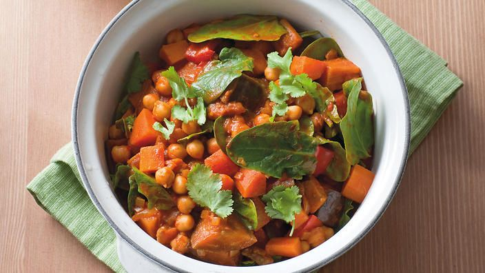 Chickpea and vegetable casserole recipe : SBS Food