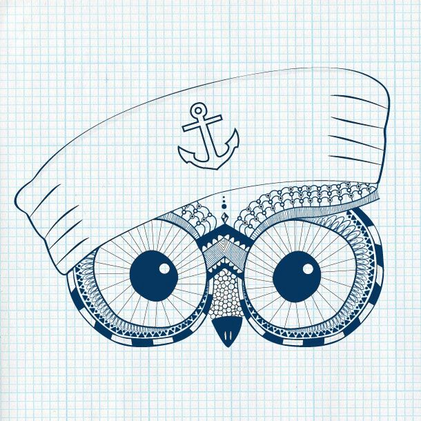 Seaman Owl - Soon in my webshop Drawfeud.se.