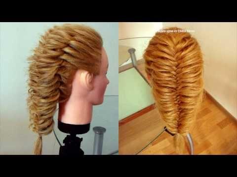 Коса воздушный Рыбий хвост. Греческая коса. Техника трёх кос. Видео-урок - YouTube