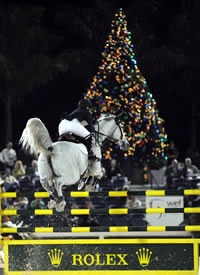 Margie Engle won the Rolex/U.S. Equestrian Federation National Championship at Holiday & Horses. © 2008 by Nancy Jaffer