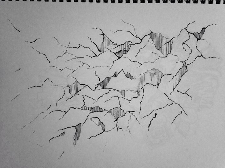 Cracked lines doodle
