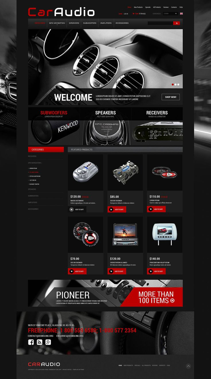 Car Electronics #ZenCart #Responsive  Template via @medosadvert by @templatemonster  #52436
