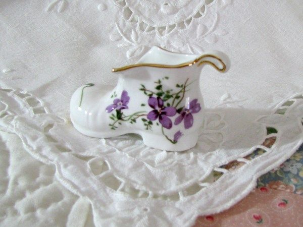Hammersley Victorian Violet's Boot - Vintage Items for Sale - The Vintage Village