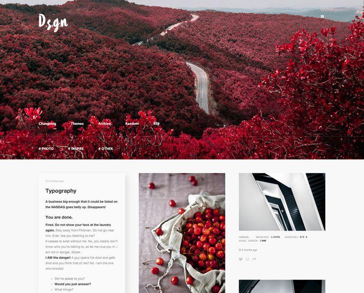 D . S . G . N Tumblr Theme #theme #tumblr #webdesign #web #design #portfolio #minimal #grid