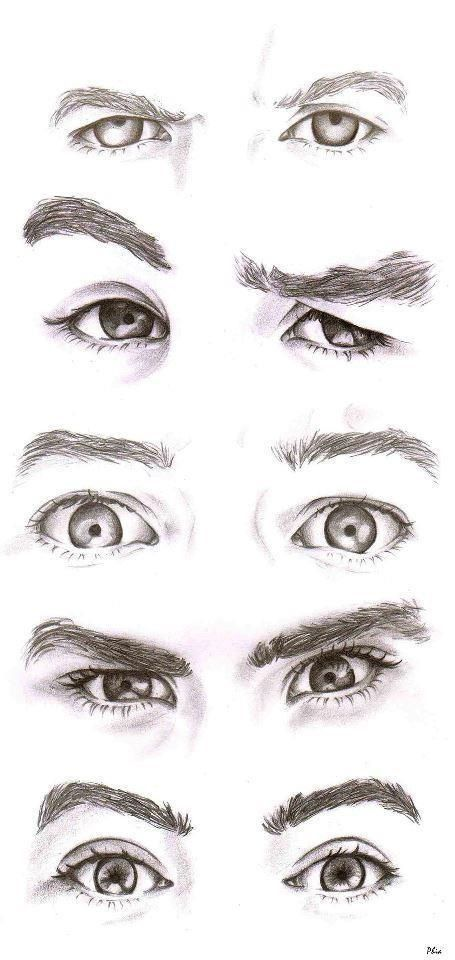 -how to draw {realistic eyes}