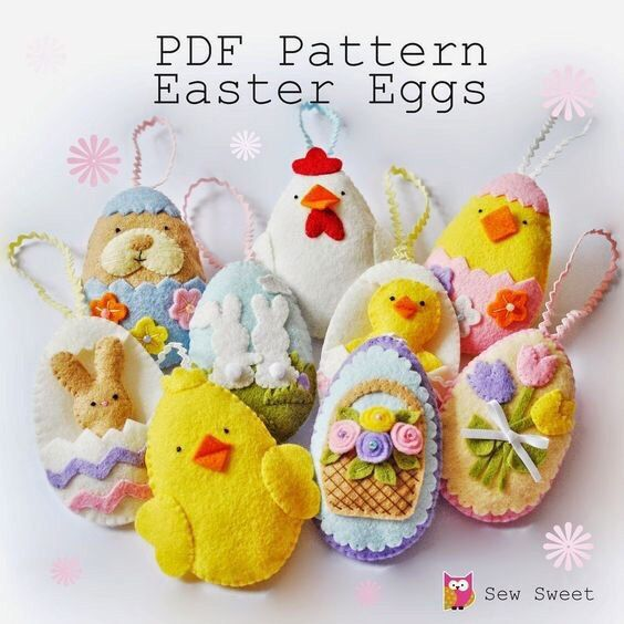 78 best easter sewing projects images on pinterest easter crafts easter eggs set one pdf pattern by sewsweetuk on etsy negle Image collections