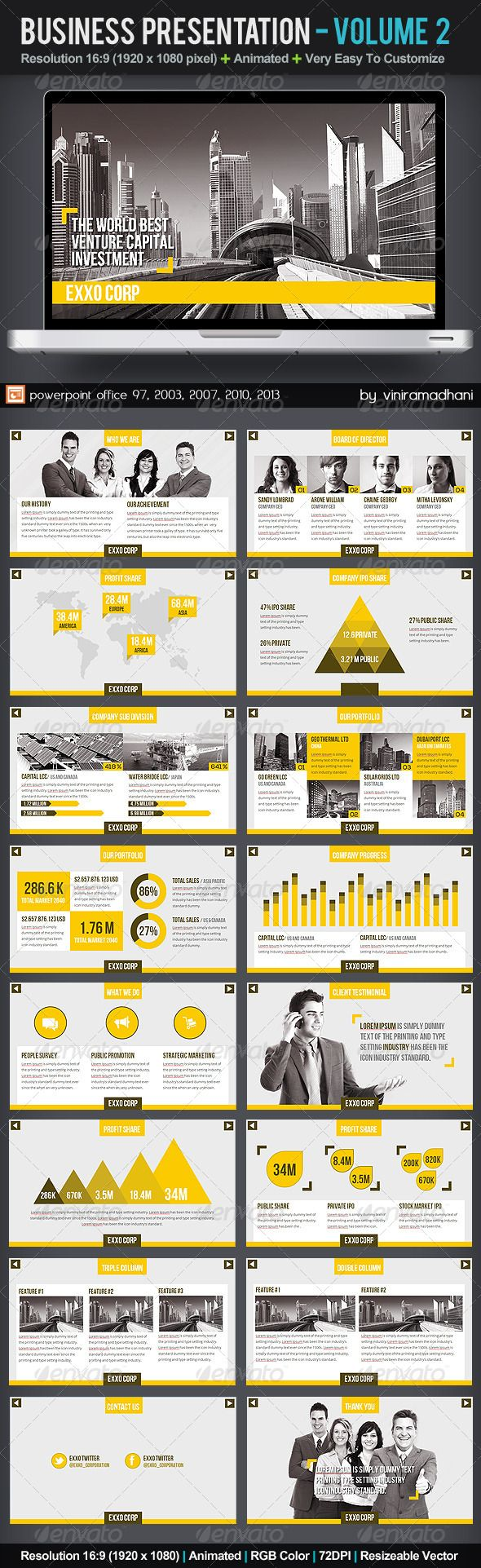 Business Presentation | Volume 2 - Business Powerpoint Templates